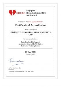 Accreditation- BCLS SED Instructor Training Centre