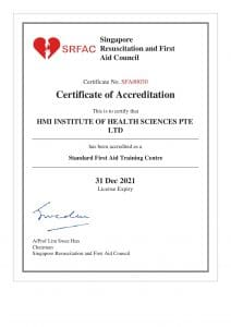 Accreditation- Standard First Aid Training Centre